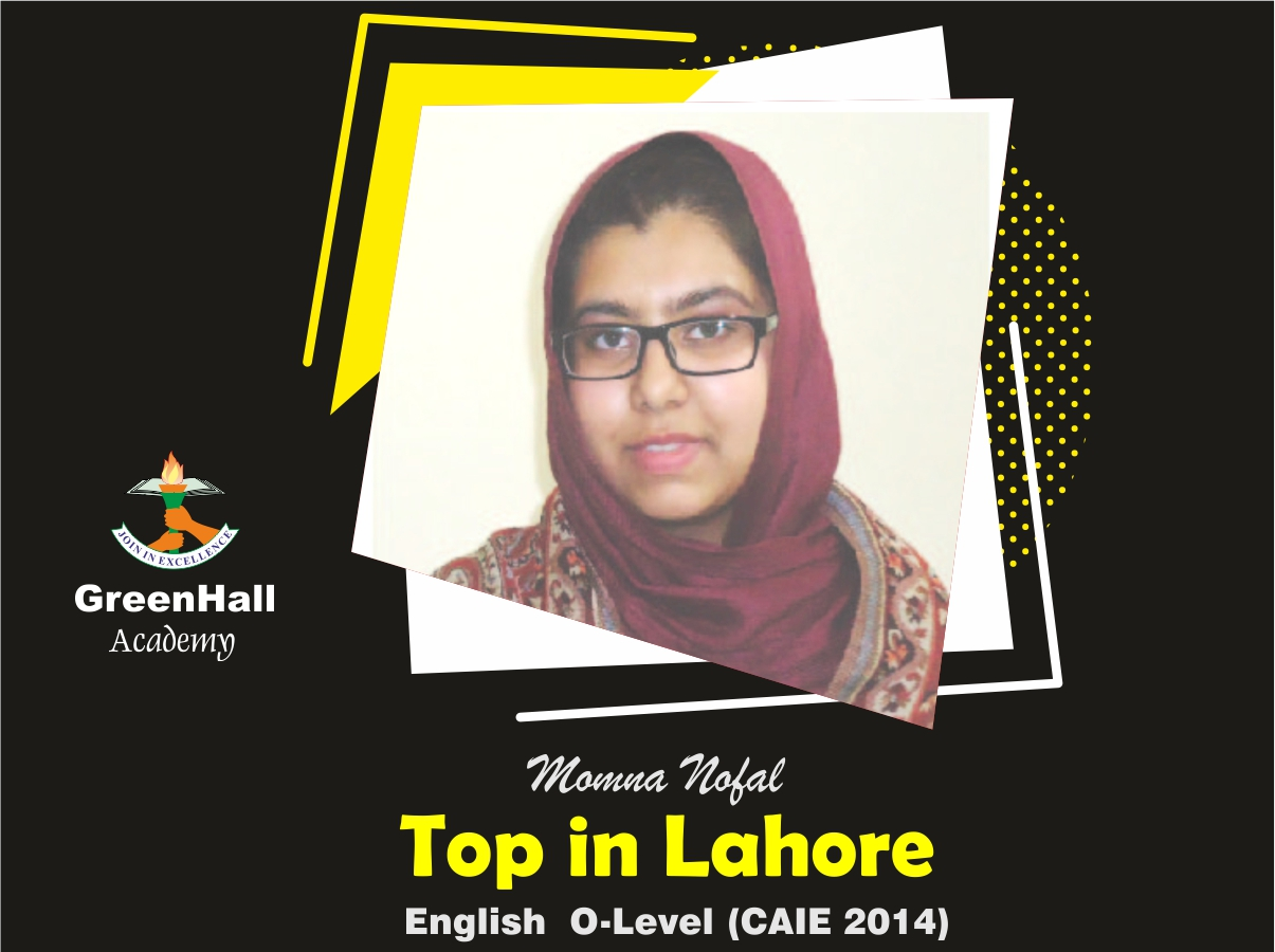 Momna Nofal Top in Lahore English GreenHall Academy