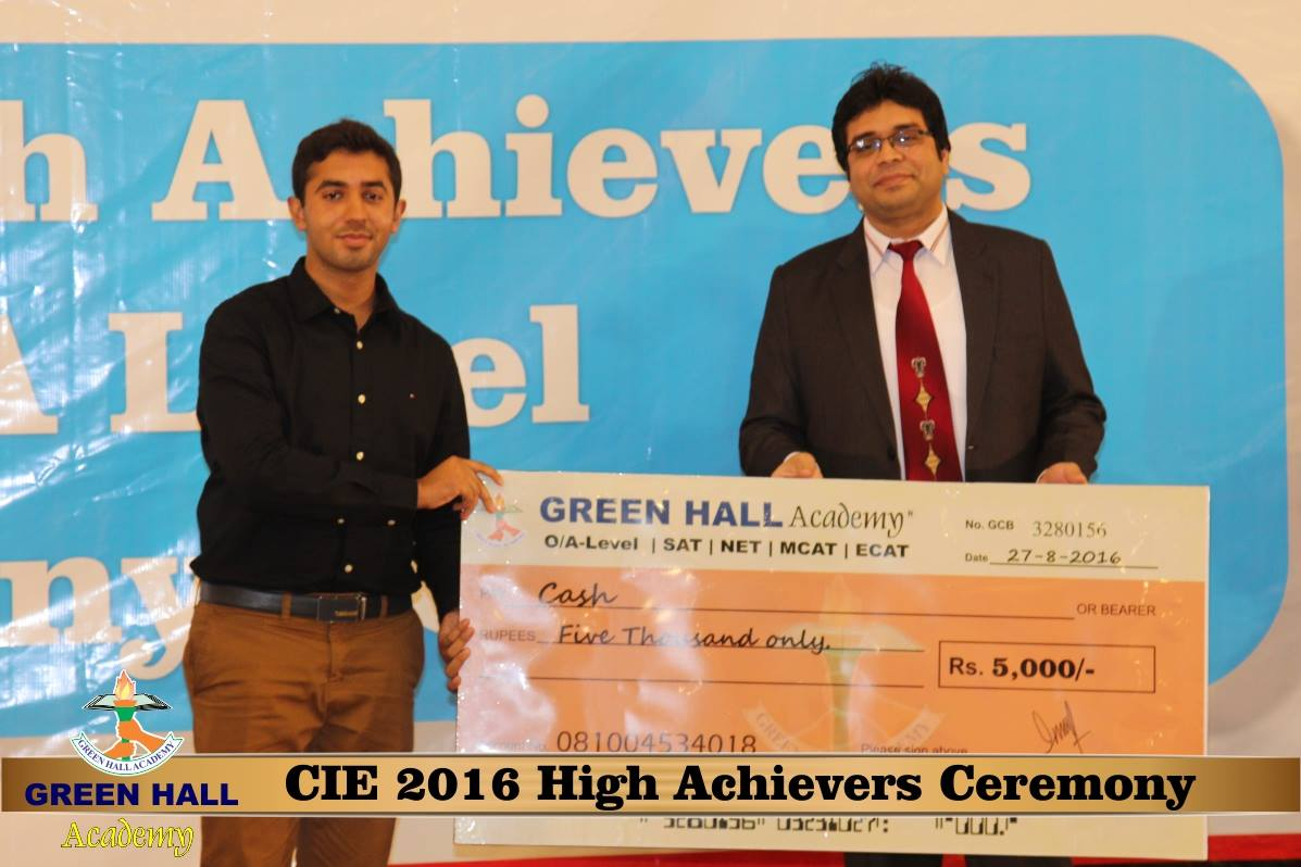 CAIE High Achievers 2016 GreenHall Academy 112