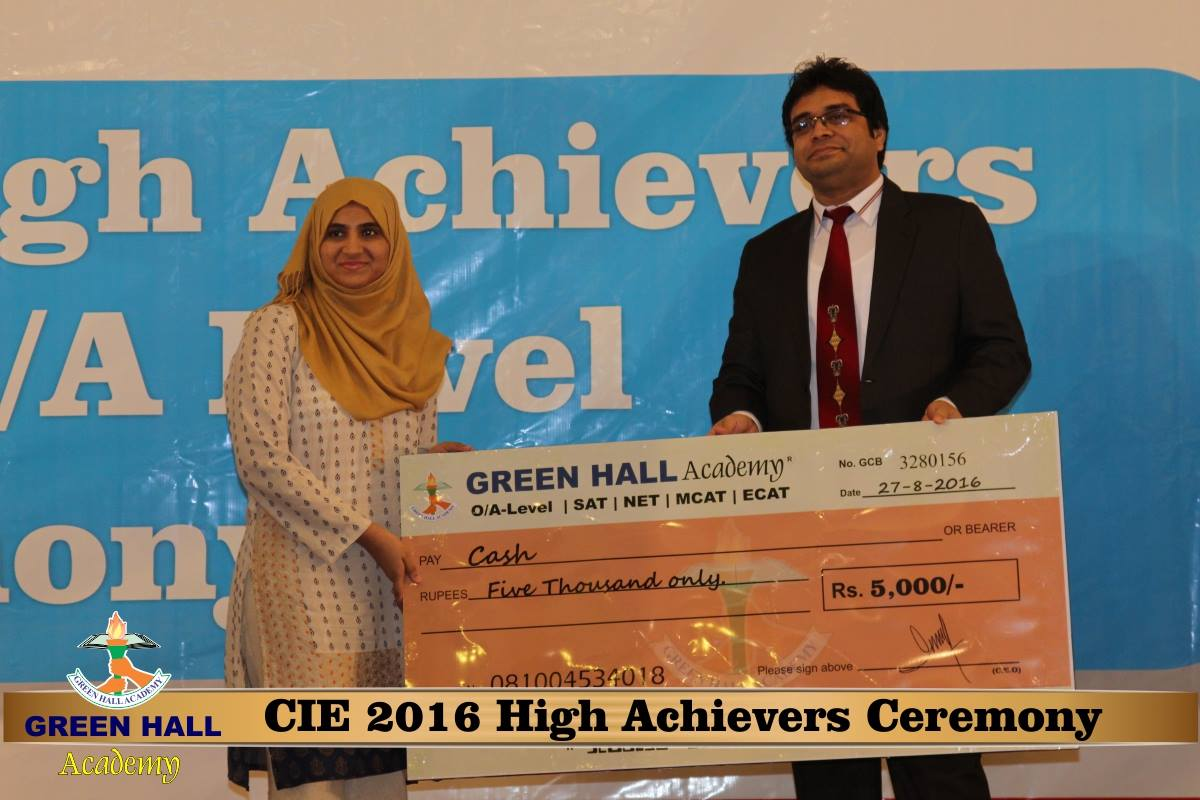 CAIE High Achievers 2016 GreenHall Academy 114