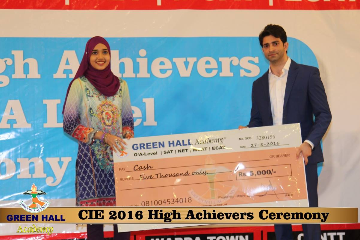 CAIE High Achievers 2016 GreenHall Academy 122