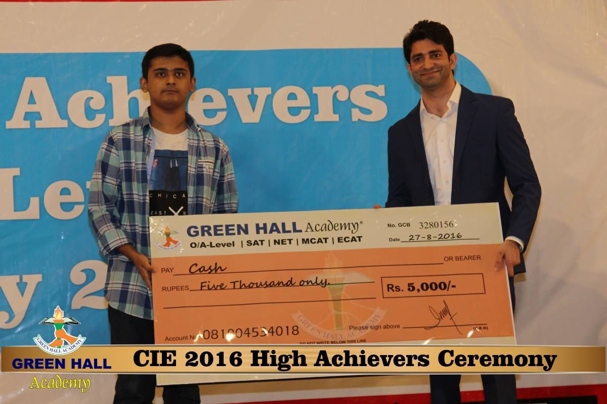 CAIE High Achievers 2016 GreenHall Academy 134