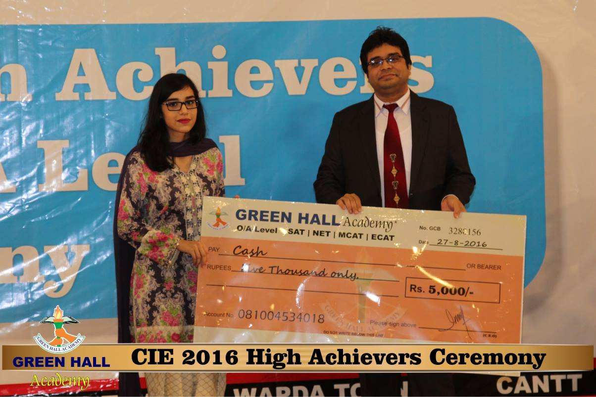 CAIE High Achievers 2016 GreenHall Academy 135