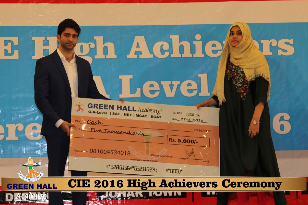 CAIE High Achievers 2016 GreenHall Academy 145