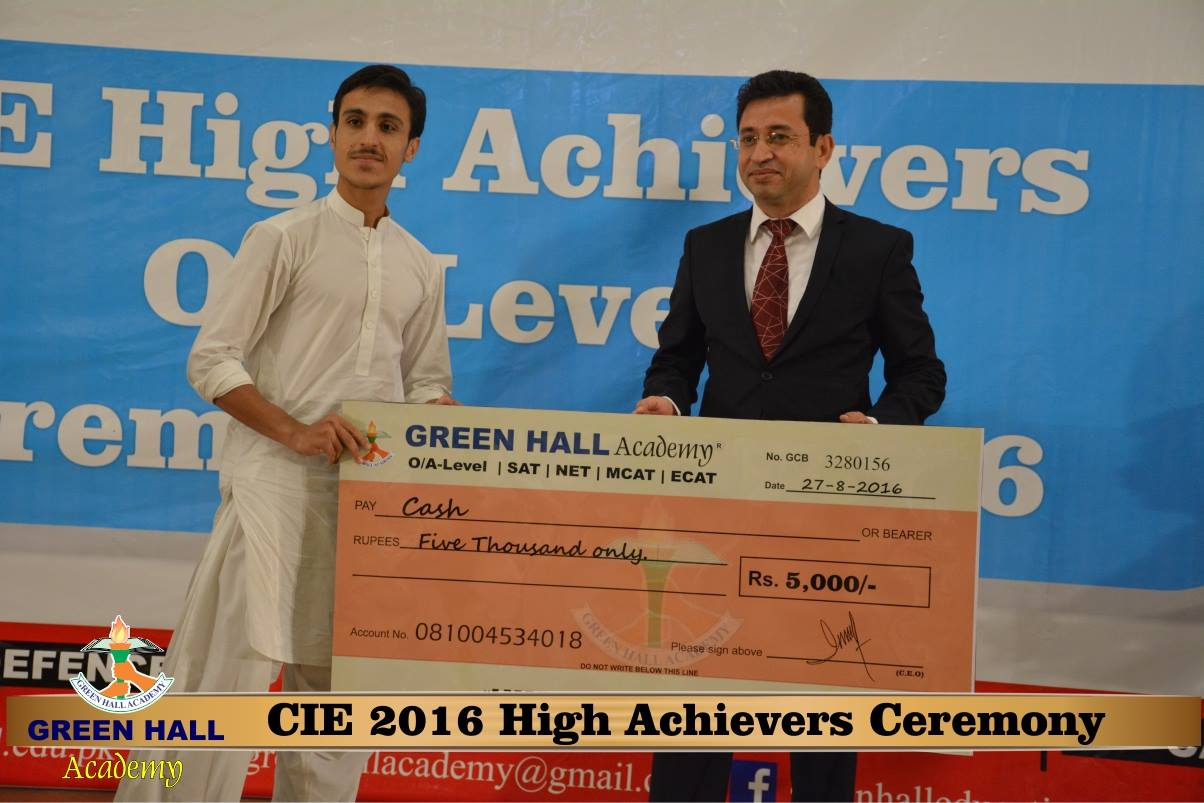 CAIE High Achievers 2016 GreenHall Academy 150