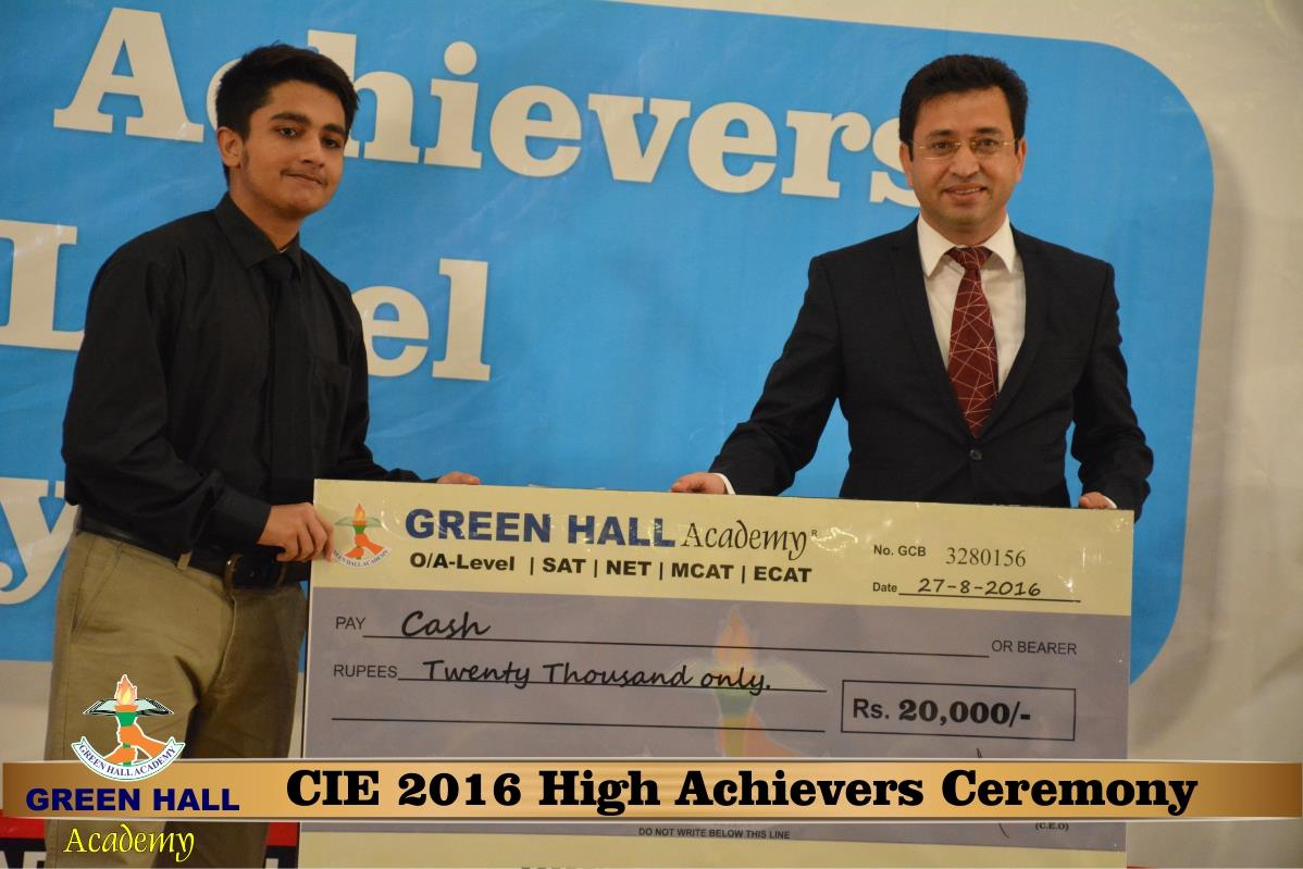 CAIE High Achievers 2016 GreenHall Academy 153