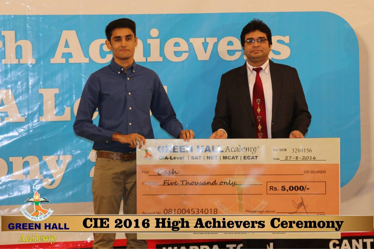 CAIE High Achievers 2016 GreenHall Academy 158