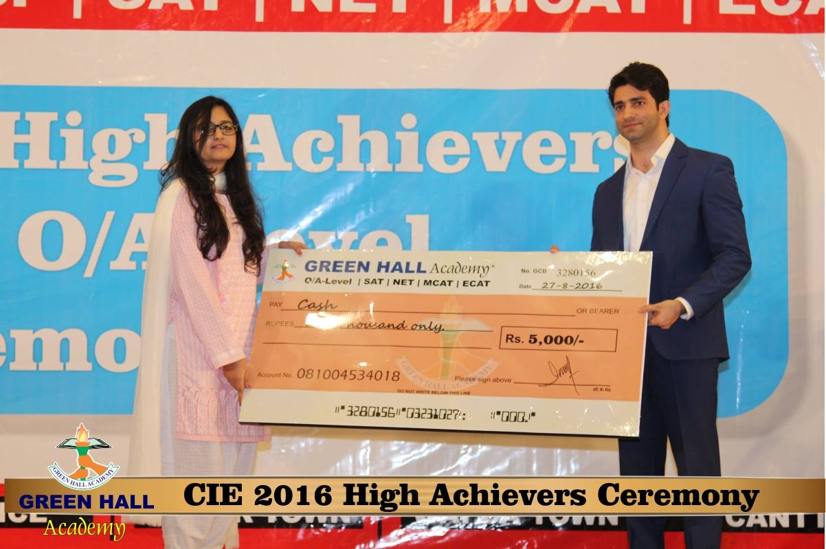 CAIE High Achievers 2016 GreenHall Academy 160