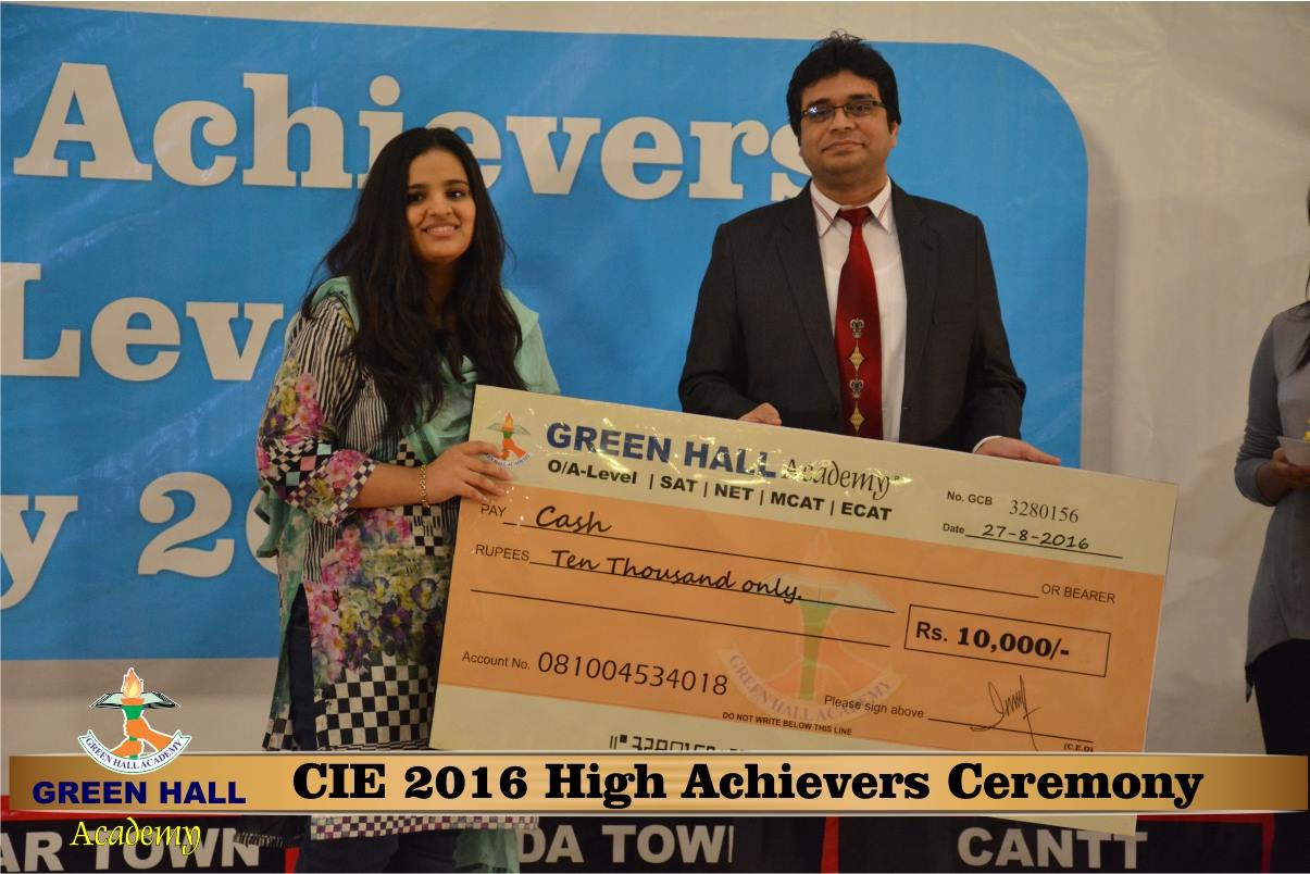 CAIE High Achievers 2016 GreenHall Academy 167