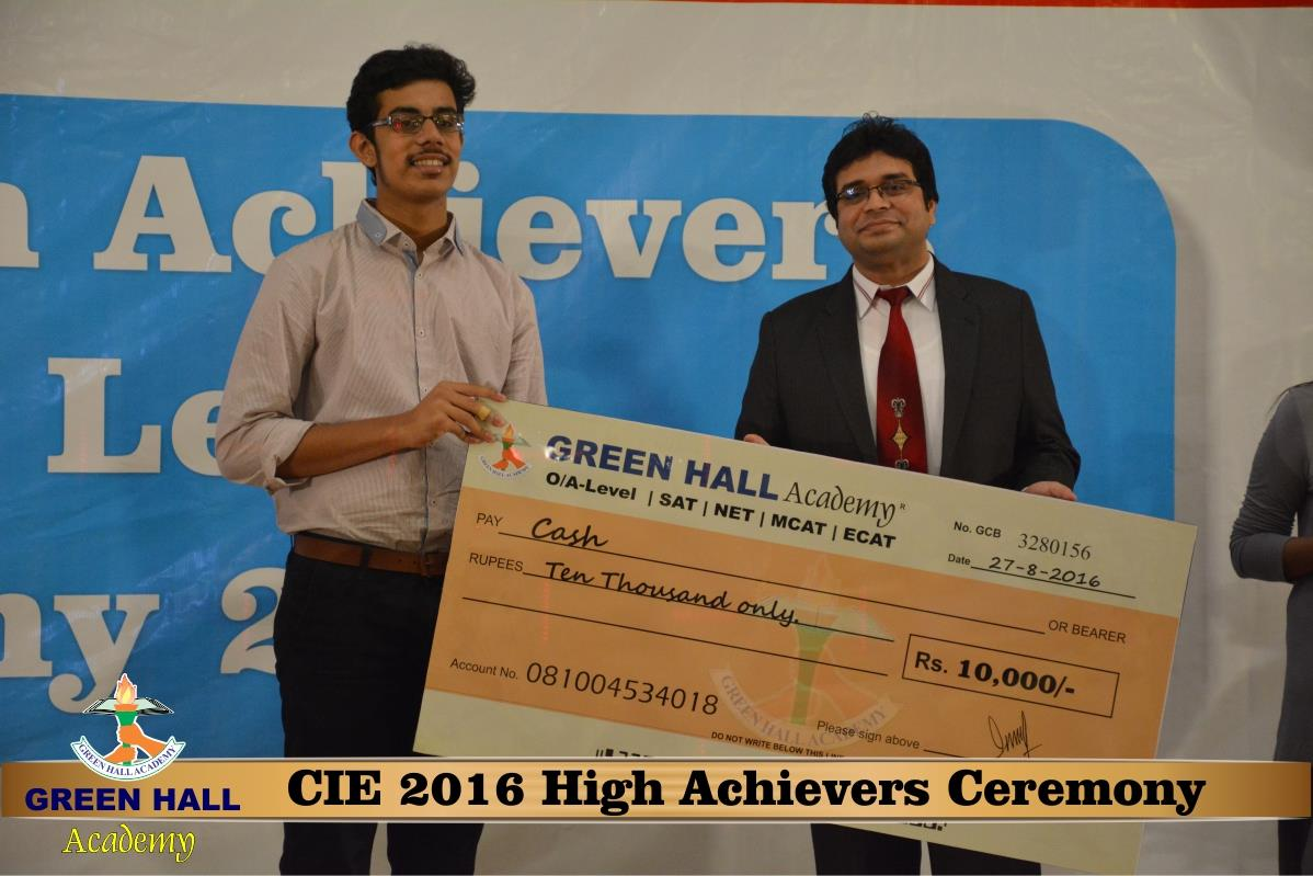 CAIE High Achievers 2016 GreenHall Academy 169
