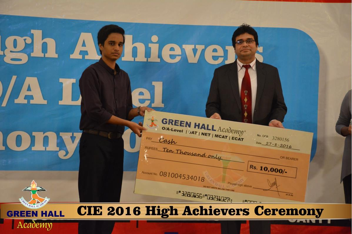CAIE High Achievers 2016 GreenHall Academy 195