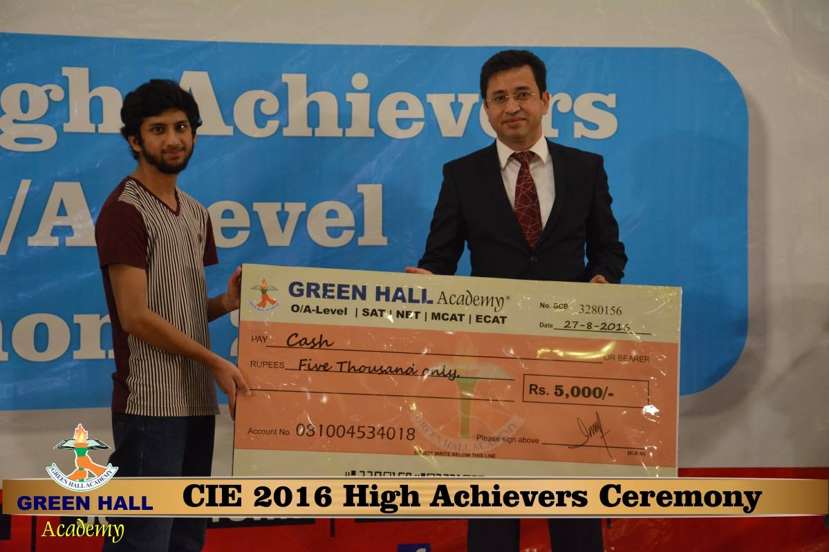 CAIE High Achievers 2016 GreenHall Academy 199