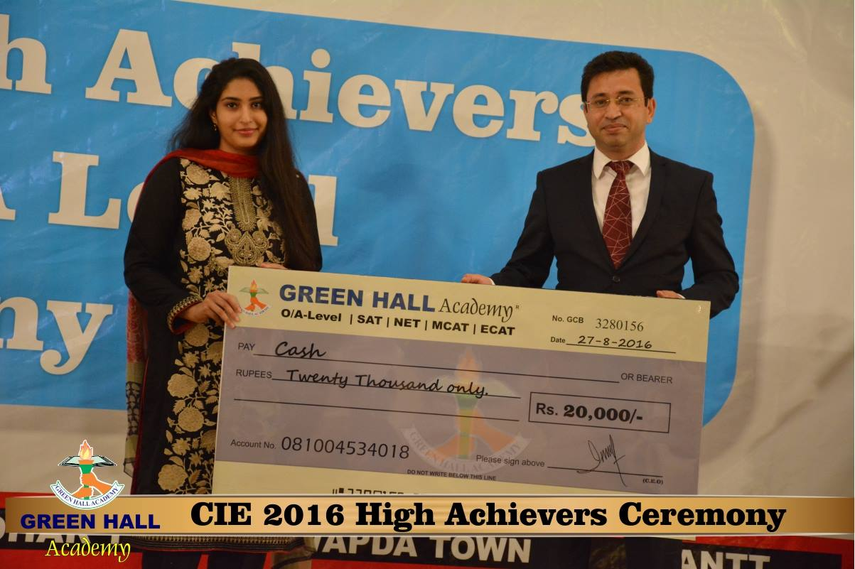 CAIE High Achievers 2016 GreenHall Academy 214