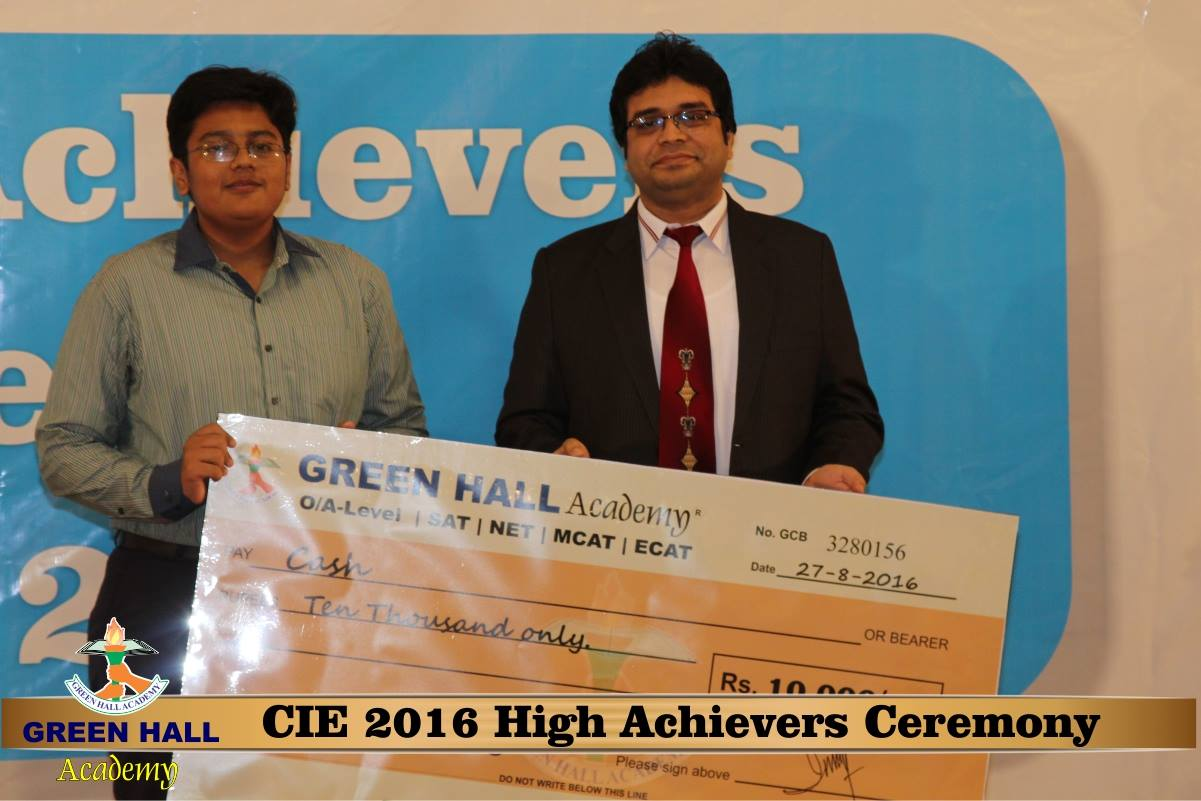 CAIE High Achievers 2016 GreenHall Academy 224