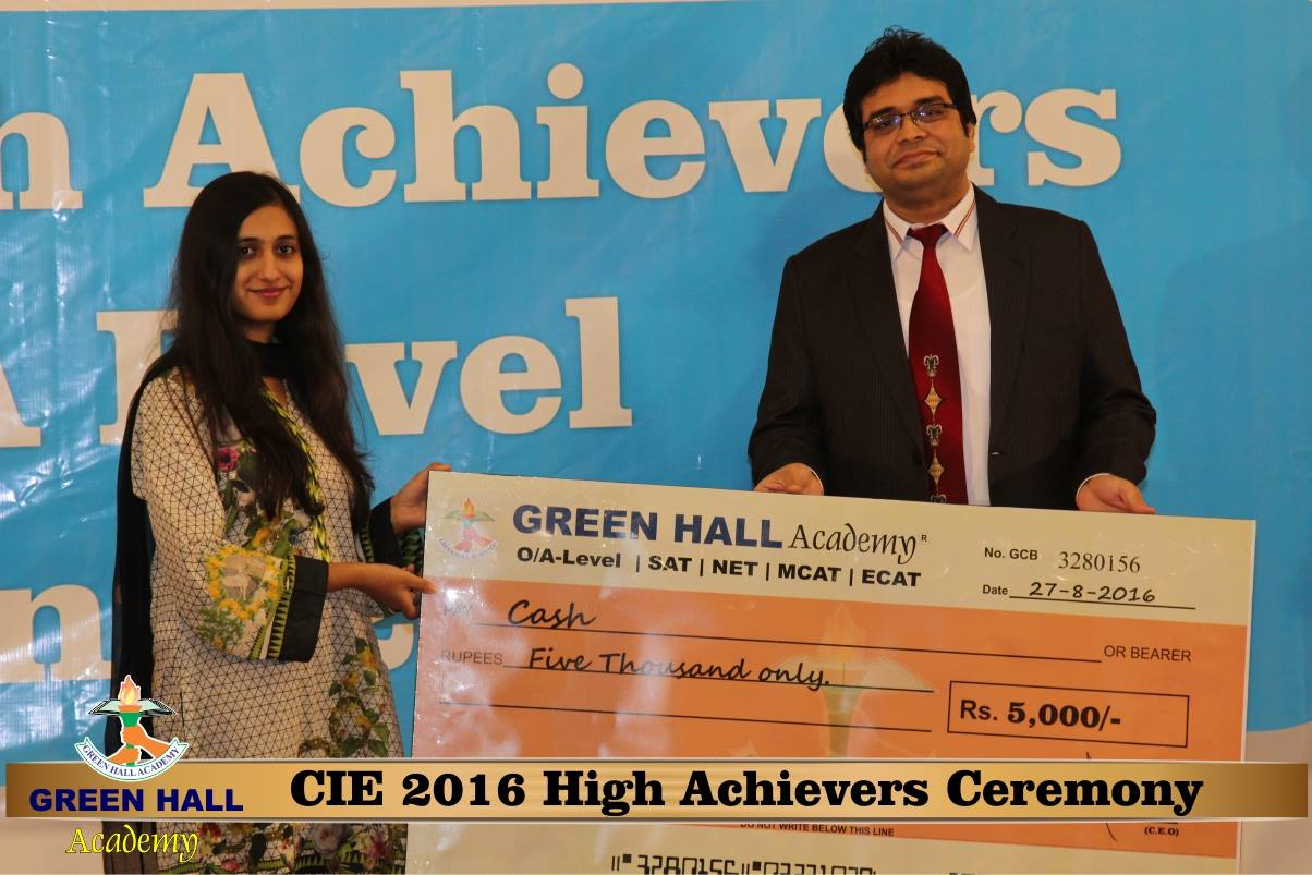 CAIE High Achievers 2016 GreenHall Academy 74
