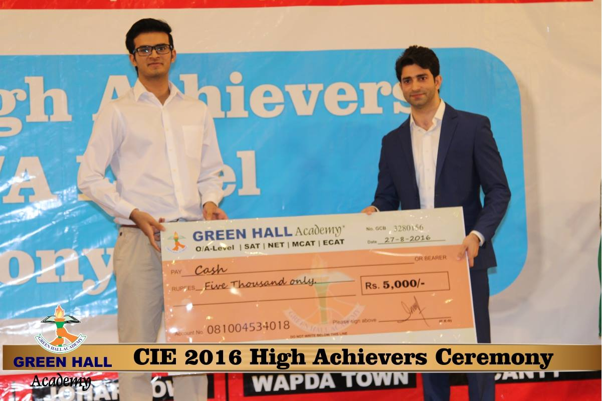 CAIE High Achievers 2016 GreenHall Academy 75