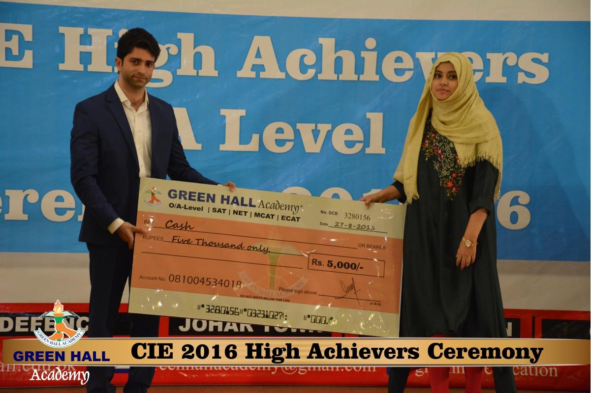 CAIE High Achievers 2016 GreenHall Academy 80