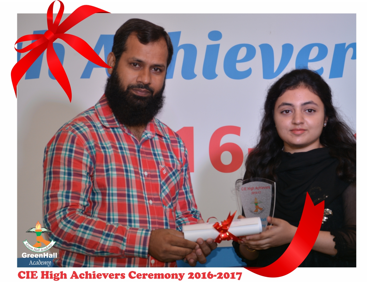 CAIE High Achievers 2017 GreenHall Academy 37