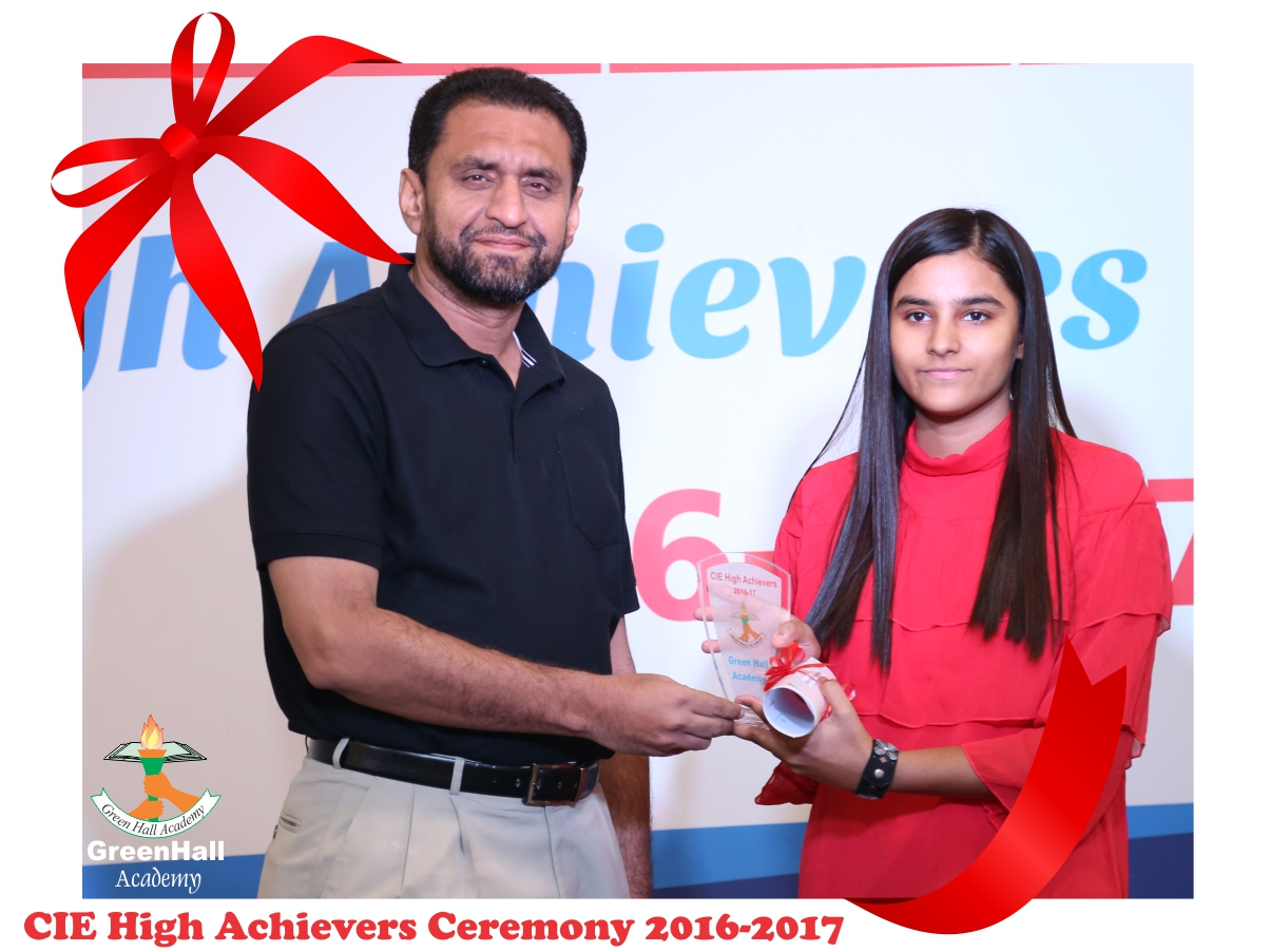CAIE High Achievers 2017 GreenHall Academy 70