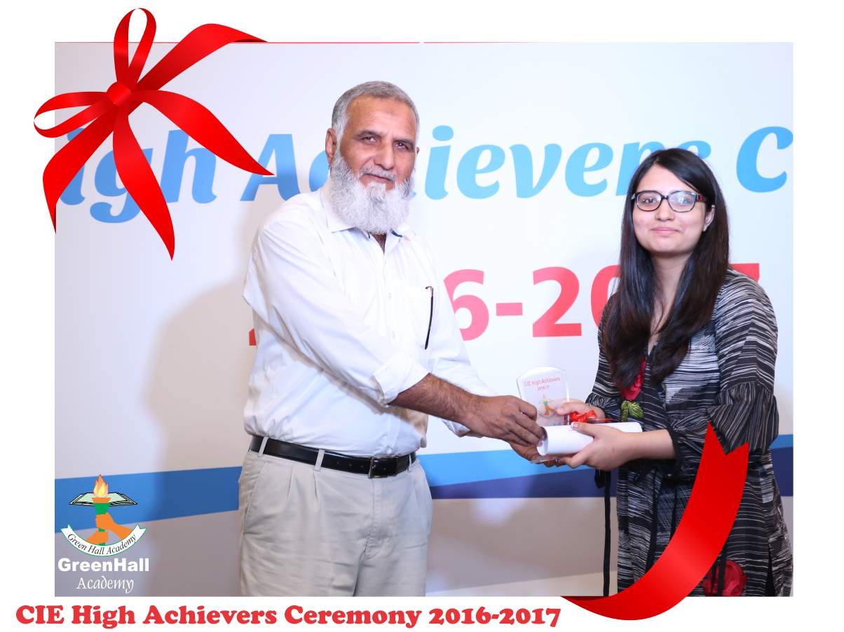 CAIE High Achievers 2017 GreenHall Academy 72