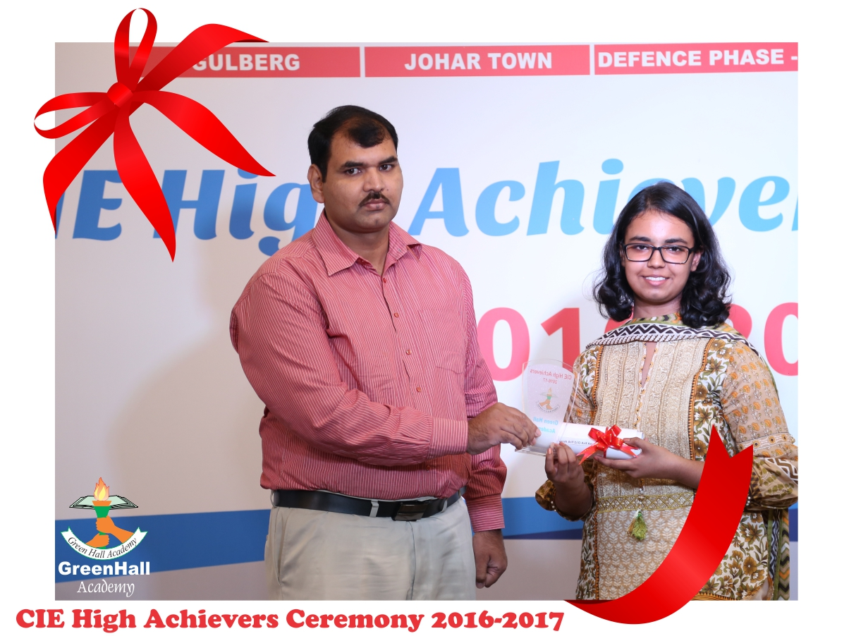 CAIE High Achievers 2017 GreenHall Academy 81