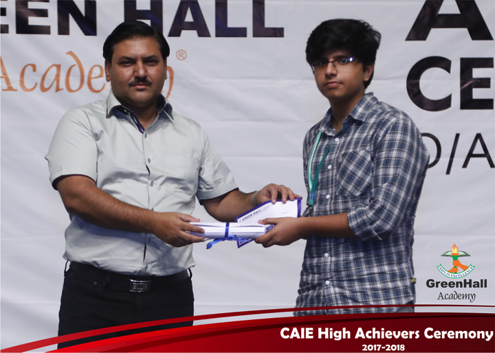 CAIE High Achievers 2018 GreenHall Academy 11