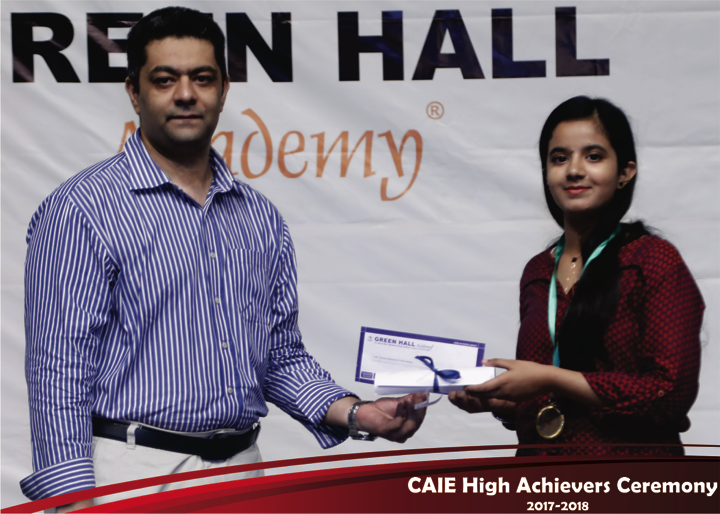 CAIE High Achievers 2018 GreenHall Academy 16