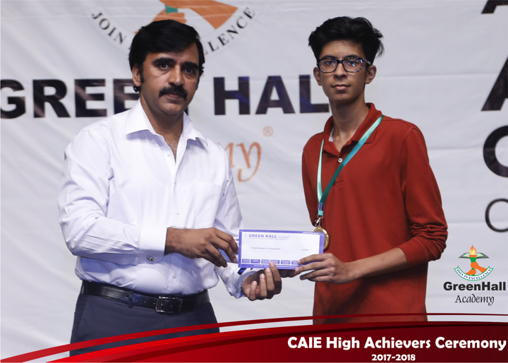 CAIE High Achievers 2018 GreenHall Academy 29