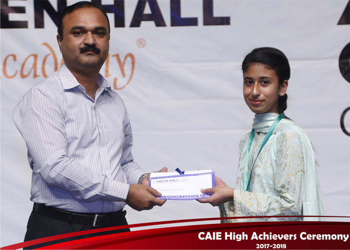CAIE High Achievers 2018 GreenHall Academy 37