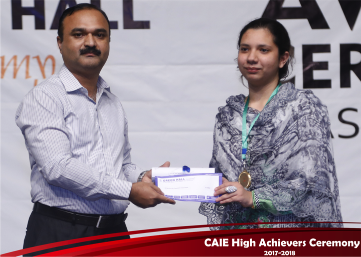 CAIE High Achievers 2018 GreenHall Academy 40