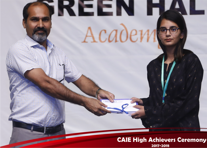 CAIE High Achievers 2018 GreenHall Academy 44