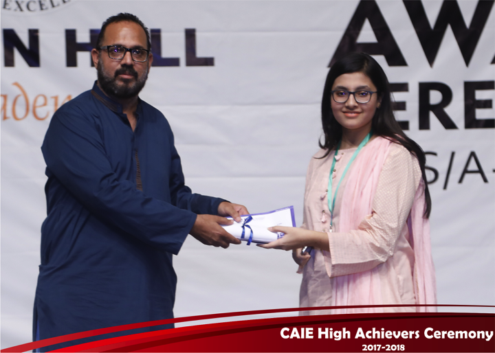 CAIE High Achievers 2018 GreenHall Academy 50