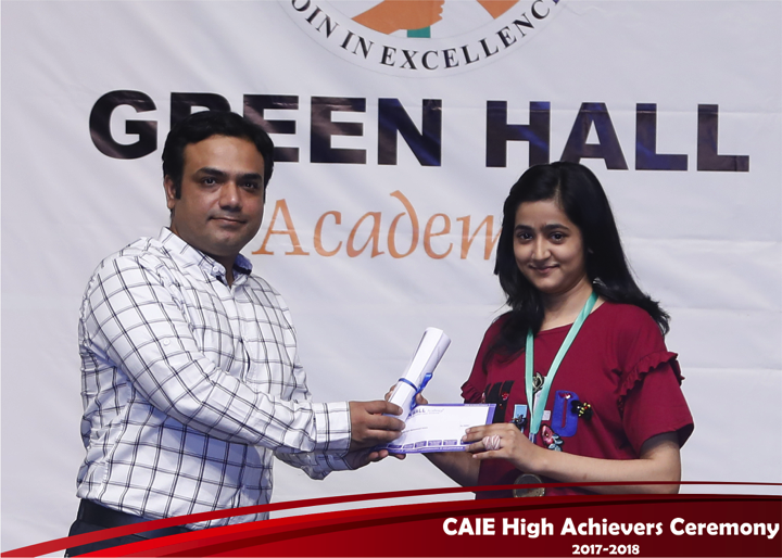 CAIE High Achievers 2018 GreenHall Academy 53