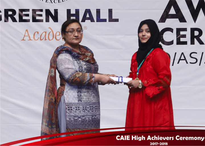 CAIE High Achievers 2018 GreenHall Academy 67