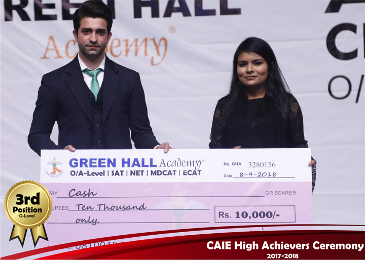 CAIE High Achievers 2018 GreenHall Academy 7
