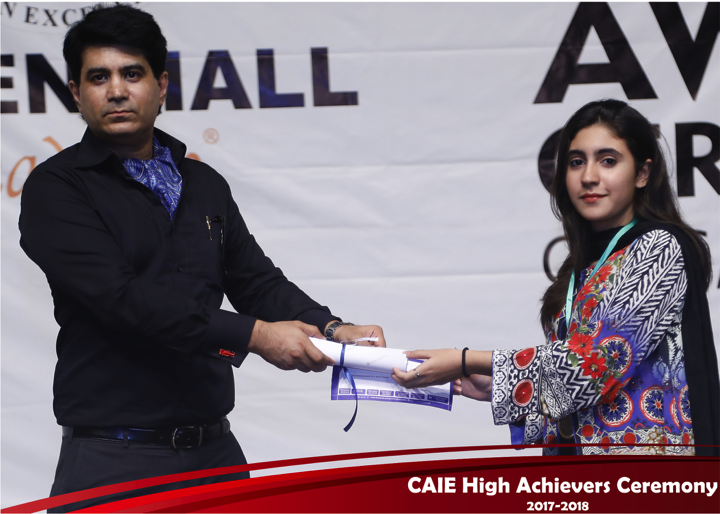 CAIE High Achievers 2018 GreenHall Academy 70