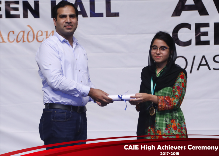 CAIE High Achievers 2018 GreenHall Academy 74