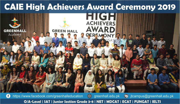 CAIE High Achievers Ceremony 2019 GreenHall Academy