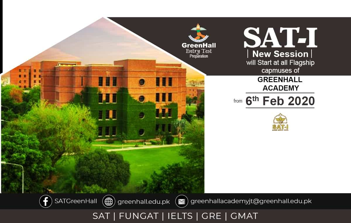 Best Results. New Session of SAT-I will Start from 6th February 2020 !!!
