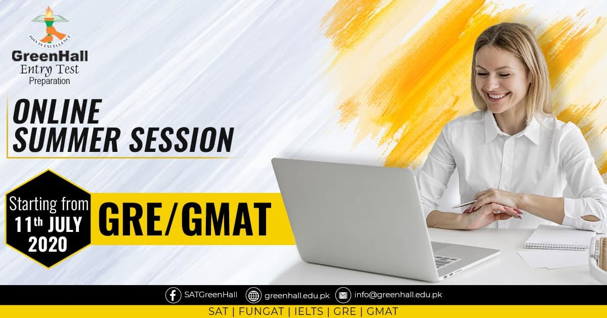 GRE / GMAT New Online Session will start from 11th July 2020 !!! Best Academy !