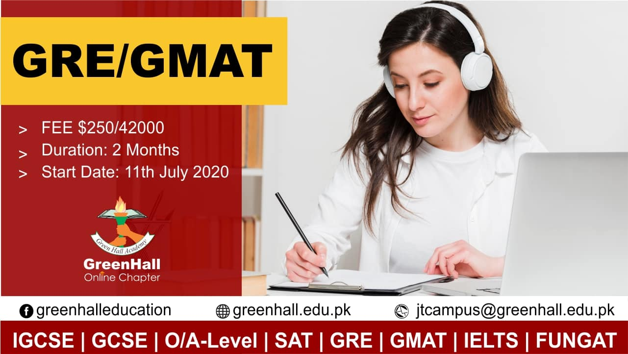 GRE / GMAT New Online Session will start from 11th July 2020 ! Achieve Best Score.