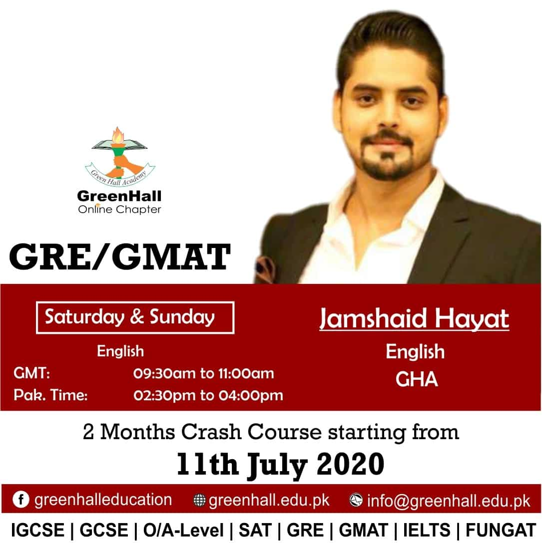 GRE / GMAT New Online Session will start from 11th July 2020 !!!
