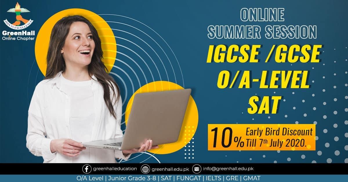 GCSE Online Classes , O Levels , A Levels , SAT New Session
