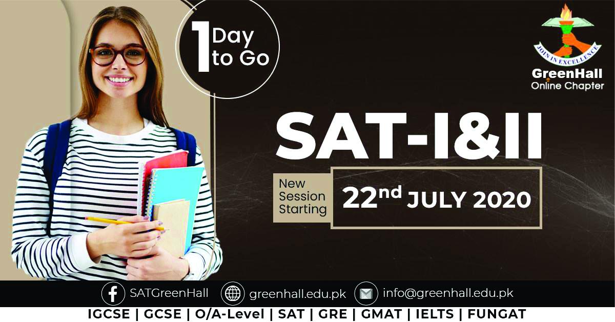 SAT Online Classes IGCSE , GRE/GMAT New Online Sessions !!!